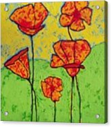 Our Golden Poppies Acrylic Print