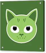 Our Green Cat Birka Acrylic Print