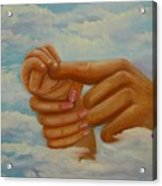 Our Hands Acrylic Print