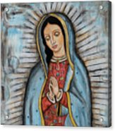 Our Lady Of Guadalupe Acrylic Print by Rain Ririn