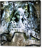 Our Little Angel Stone Carving Horizontal Acrylic Print