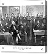 Our Presidents 1789-1881 Acrylic Print