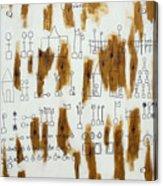 Ourabetic Alphabet Acrylic Print