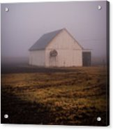 Out Building In The Fog Acrylic Print