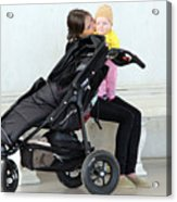 Out Of The Baby Stroller -- A Mother And Daughter Acrylic Print