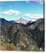 Out Of The Shadows - Angeles Crest Highway Acrylic Print