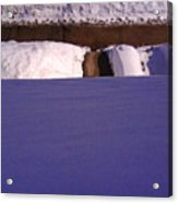 Out The Front Window In Winter Wc2 Acrylic Print