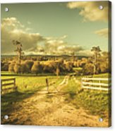 Outback Country Paddock Acrylic Print