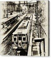 Outbound Train Acrylic Print