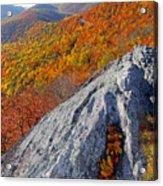 Outcrop Above Parkway Acrylic Print