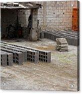 Outdoor Brickyard In Cotacachi Acrylic Print