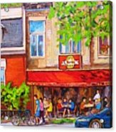 Outdoor Cafe Acrylic Print