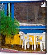 Outdoor Cafe  Acrylic Print