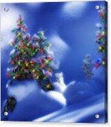 Outdoor Christmas Trees Acrylic Print