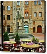 Outdoor Dining Acrylic Print