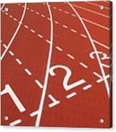 Outdoor Running Track Acrylic Print