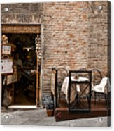 Outdoor Seating Available Acrylic Print