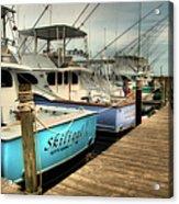Outer Banks Fishing Boats Waiting Acrylic Print