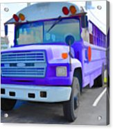 Outer Banks University Bus 1 Acrylic Print