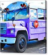 Outer Banks University Bus 2 Acrylic Print