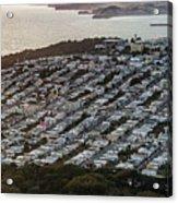 Outer Richmond San Francisco Aerialouter Richmond San Francisco Aerial Acrylic Print