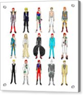 Outfits Of Bowie Acrylic Print