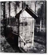 Outhouse black and white wetplate Acrylic Print
