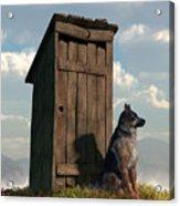 Outhouse Guardian - German Shepherd Version Acrylic Print