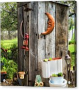 Outhouse In The Garden Acrylic Print