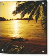 Outrigger At Sunset Acrylic Print