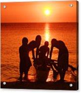Outrigger Sunset Silhouet Acrylic Print