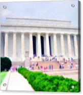 Outside The Lincoln Memorial Acrylic Print