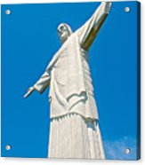 Outstretched Arms Of Christ The Redeemer Icon On Corcovado Mountain In Rio De Janeiro-brazil  Acrylic Print