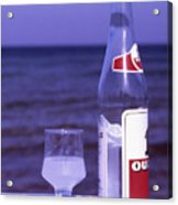 Ouzo And Olives By The Sea Acrylic Print