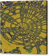 Oval Abstract Maple Leaf  Acrylic Print