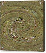 Oval Abstract Panel 6150-5 Acrylic Print
