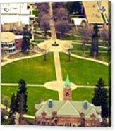 Oval At University Of Montana  Acrylic Print