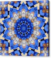 Ovarian Cancer Awareness Mandala Acrylic Print