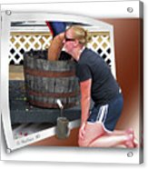 Over A Barrel Acrylic Print