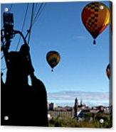 Over Auburn And Lewiston Hot Air Balloons Acrylic Print