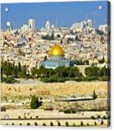 Over Jerusalem Acrylic Print