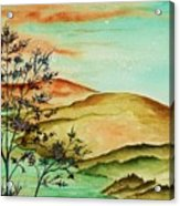 Over Orange Hills Acrylic Print