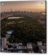 Over The City Central Park Acrylic Print