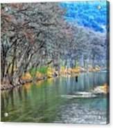 over the Guadalupe Acrylic Print