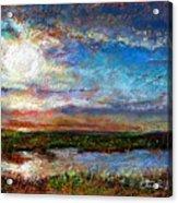 Over The Marsh Acrylic Print