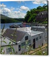 Over The Rooftops At Portree Acrylic Print