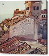 Over The Rooftops, Caceres Acrylic Print