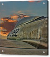 Over The Shoulder F-84g Acrylic Print