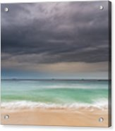 Overcast Morning At The Seaside Acrylic Print