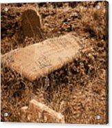 Overgrown Graves Acrylic Print